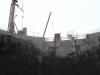 Silo topp med fundament for jernbanens dragere